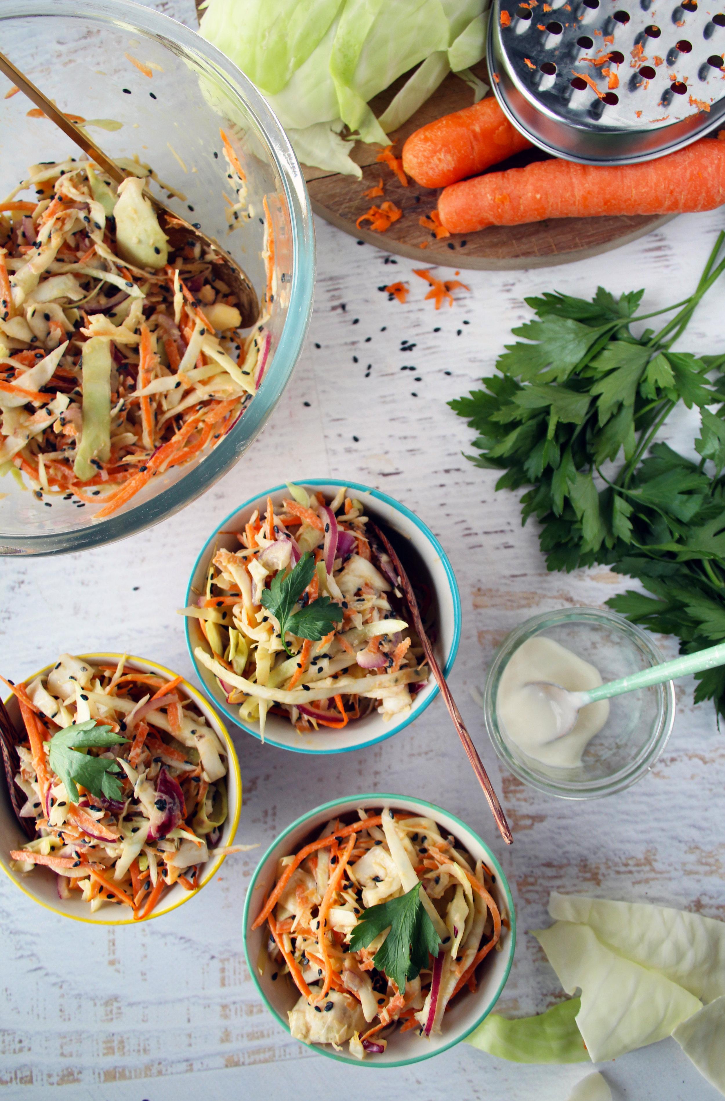 Asia rainbow slaw recipe   The Flourishing Pantry