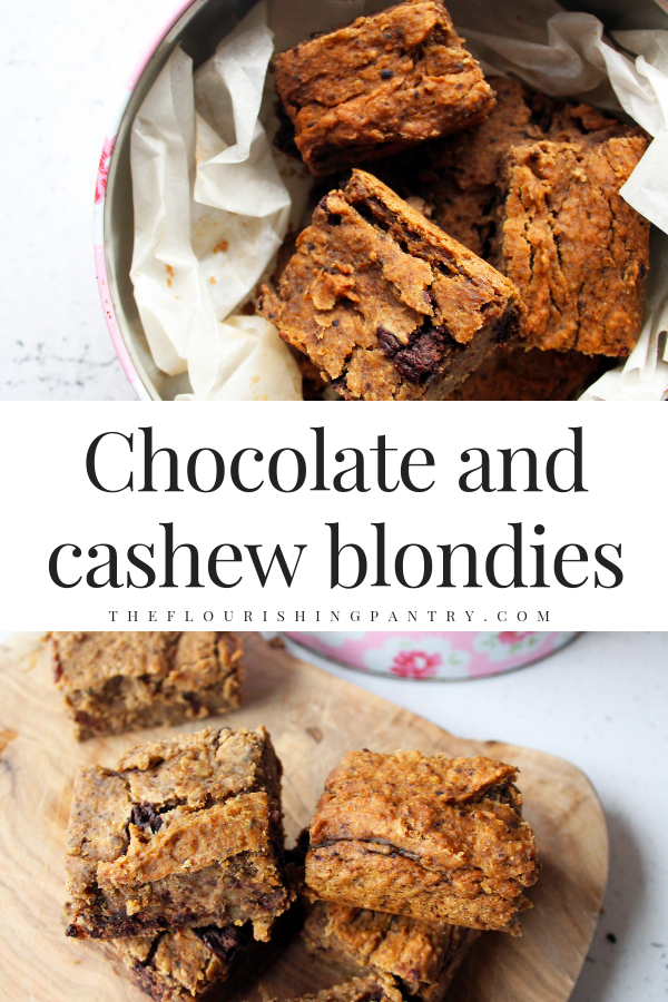 PINTEREST | Chocolate and cashew blondies | The Flourishing Pantry.png