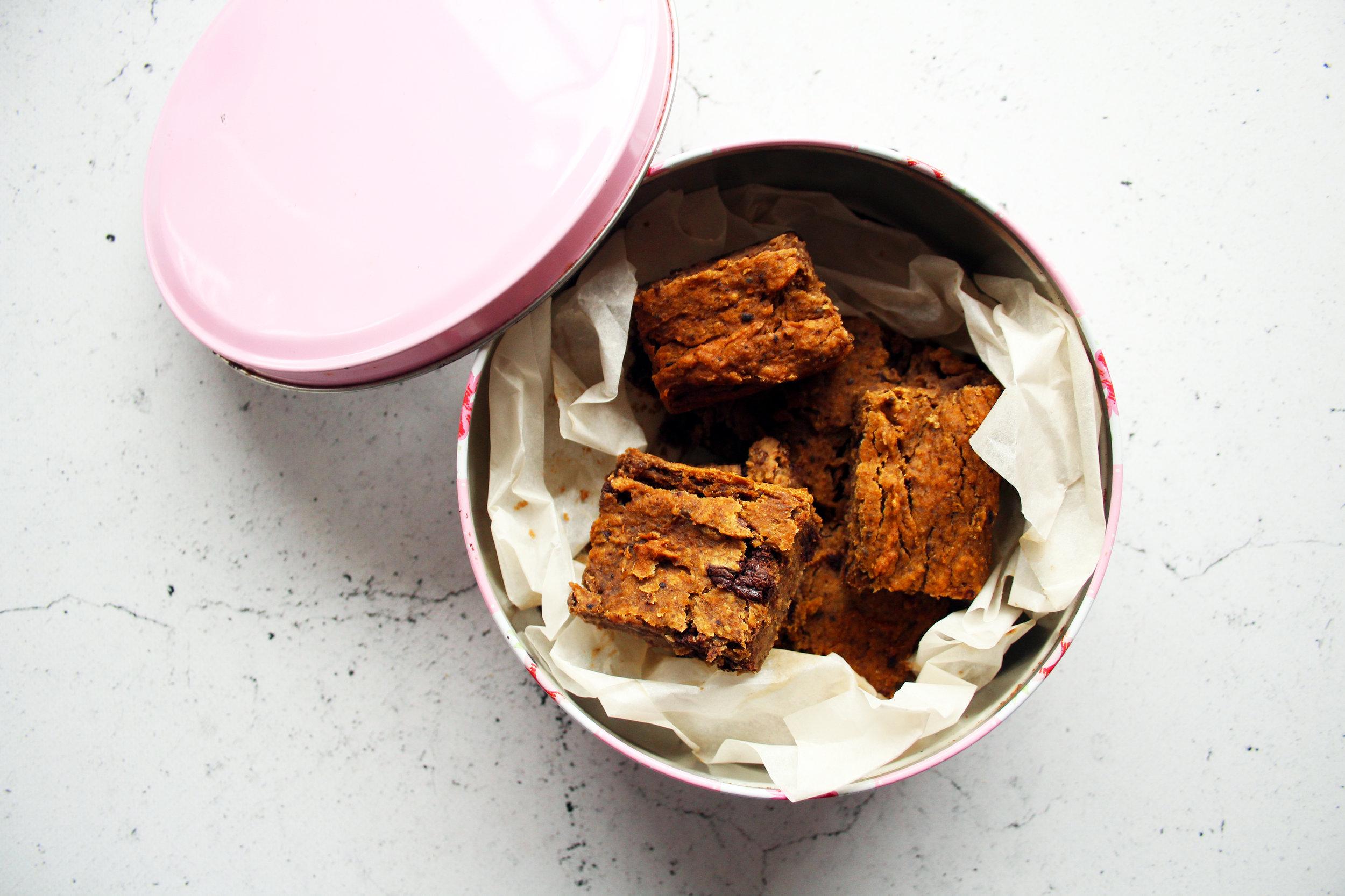 Chocolate and cashew blondies | vegan recipe | The Flourishing Pantry