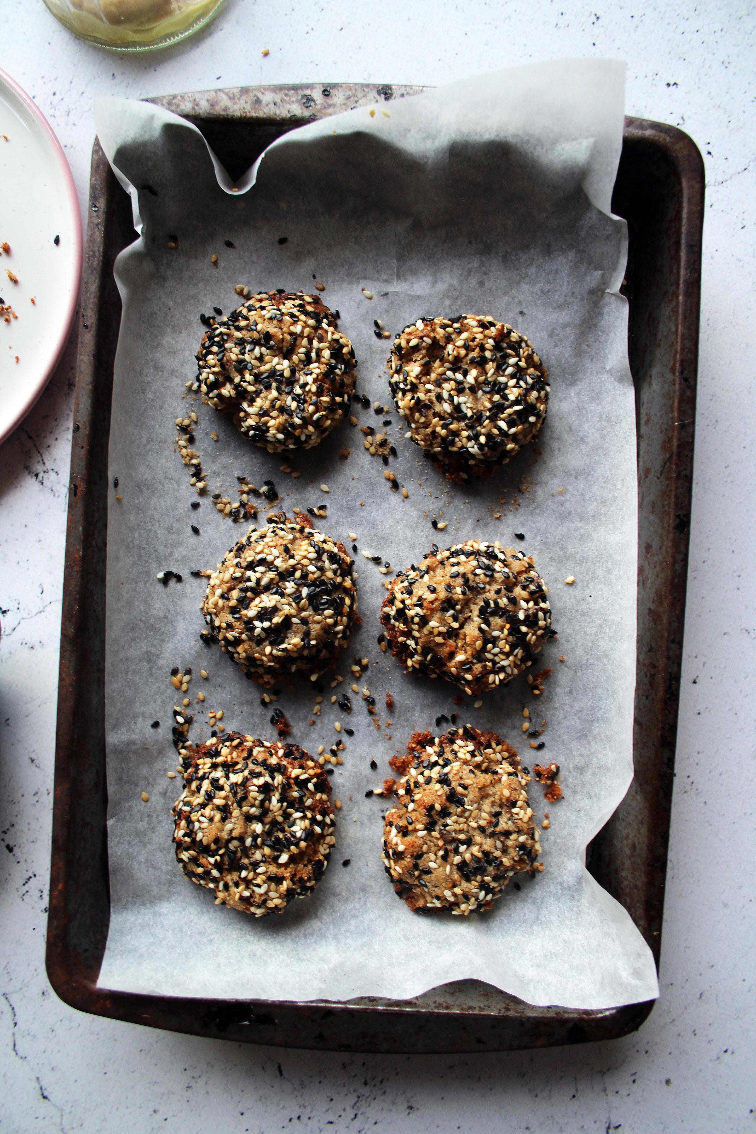 Date and tahini cookies   The Flourishing Pantry