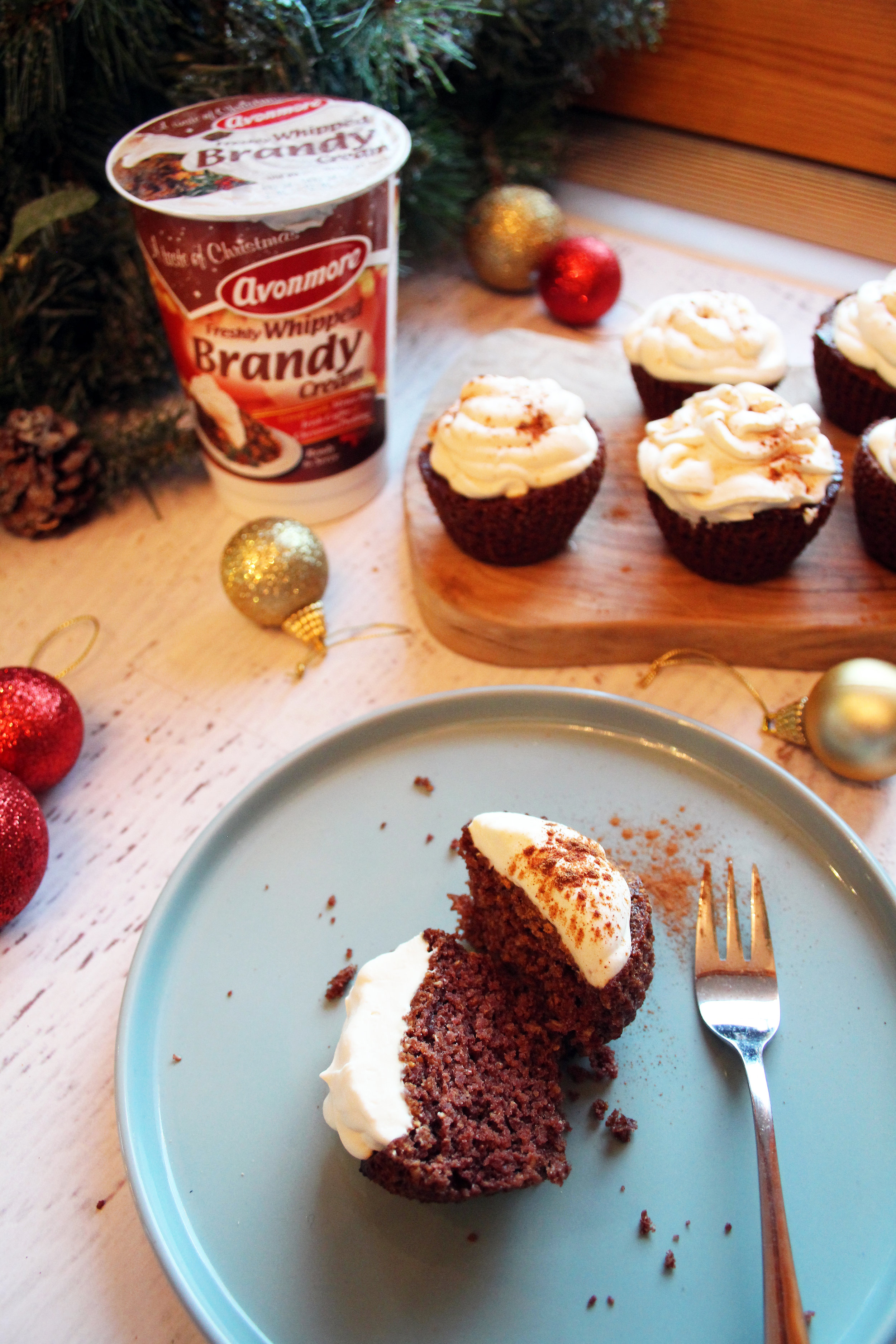 Christmas gingerbread muffins | The Flourishing Pantry