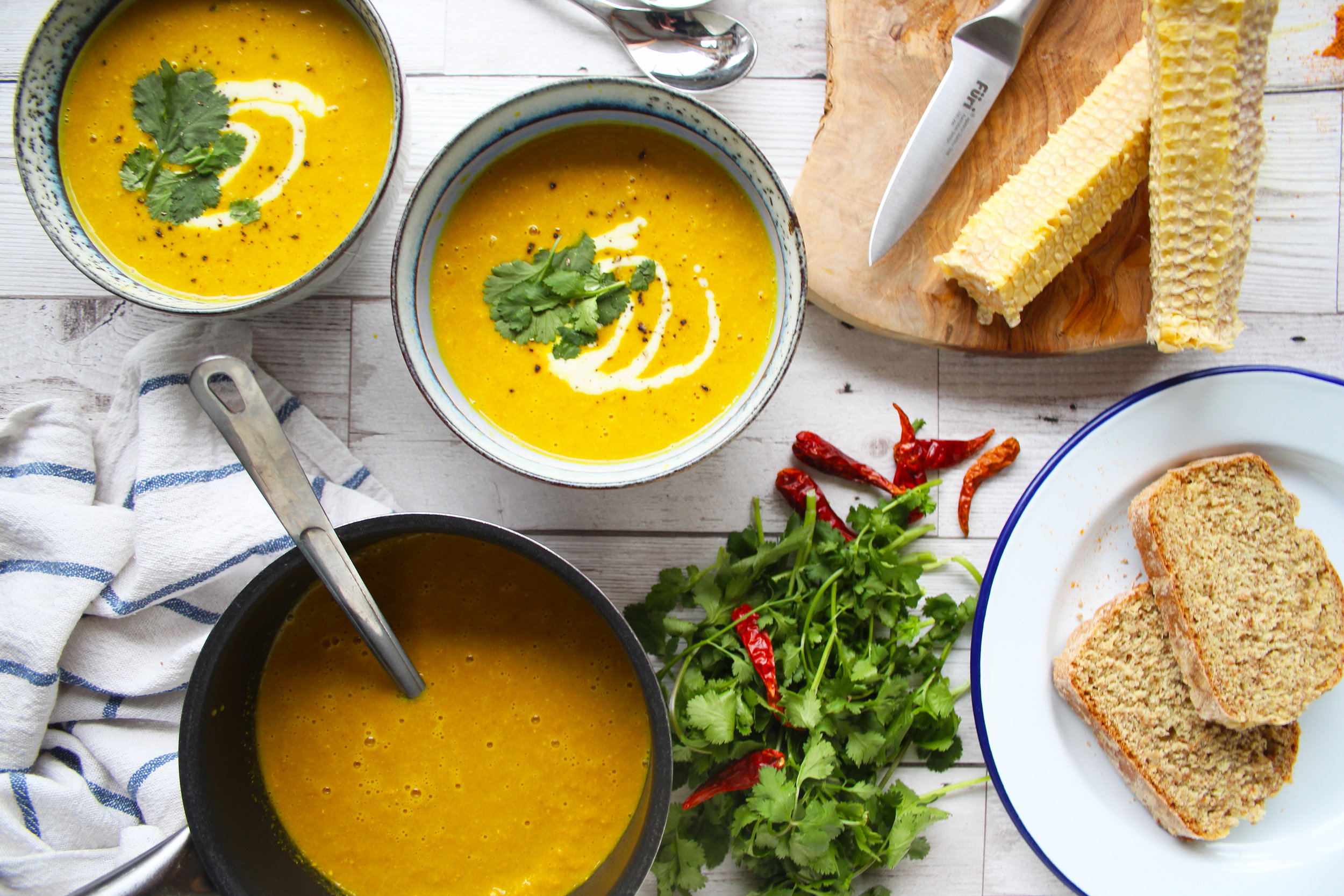 Sweetcorn chowder | The Flourishing Pantry