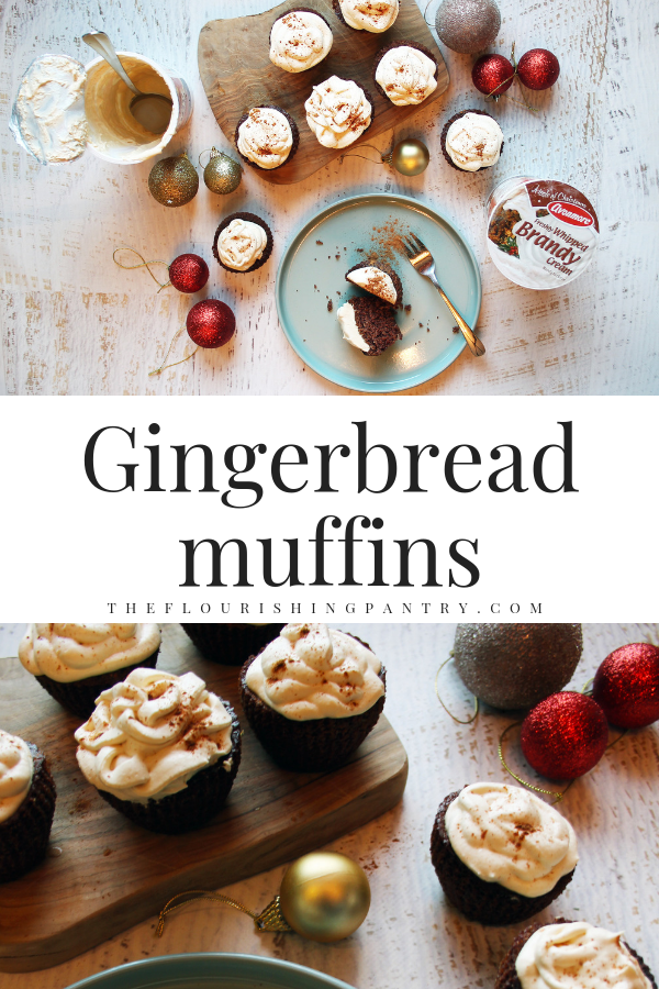 Christmas healthy gingerbread muffins | The Flourishing Pantry