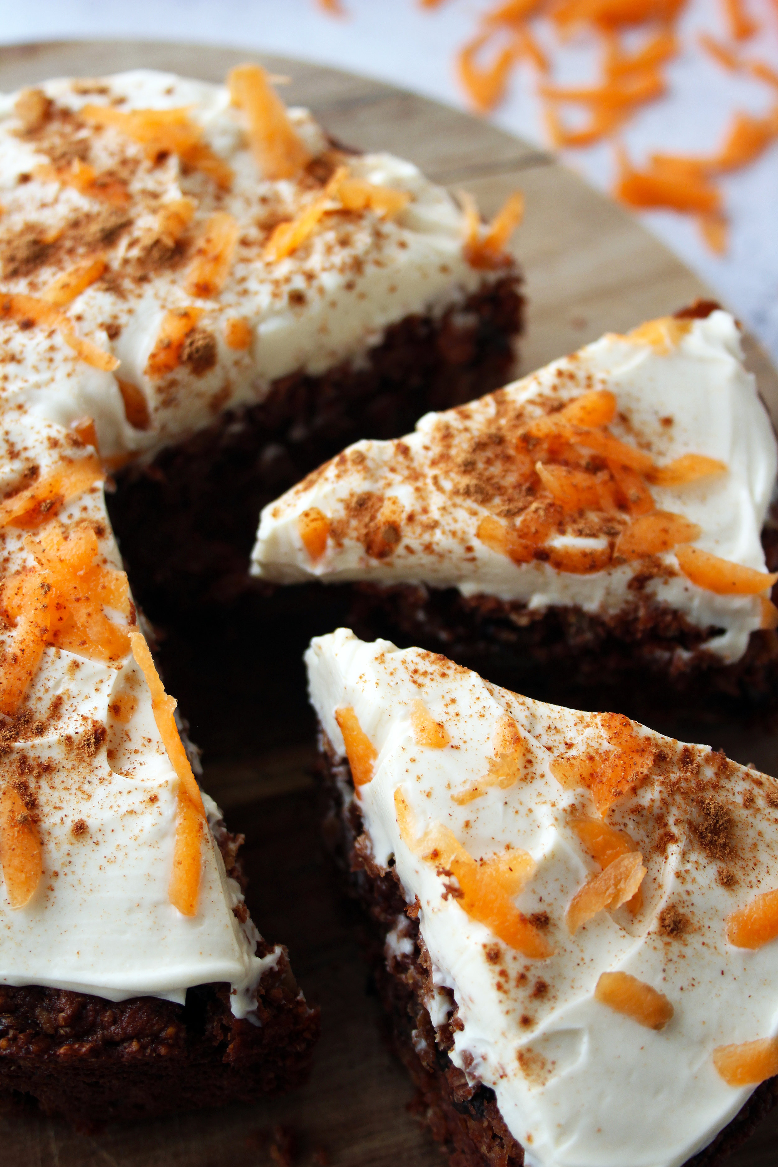 Cinnamon spiced carrot cake recipe | The Flourishing Pantry