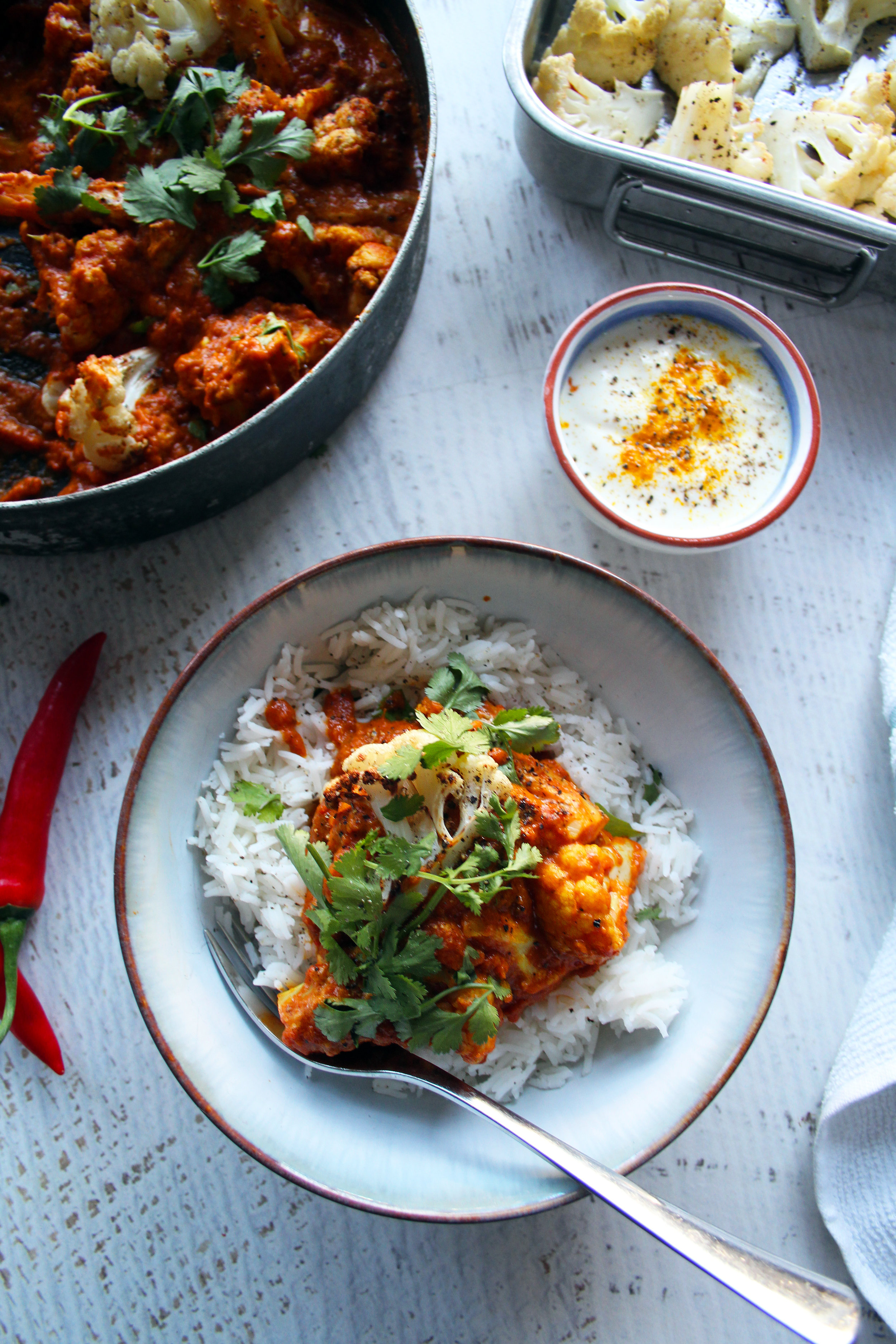 Roasted cauliflower curry | The Flourishing Pantry