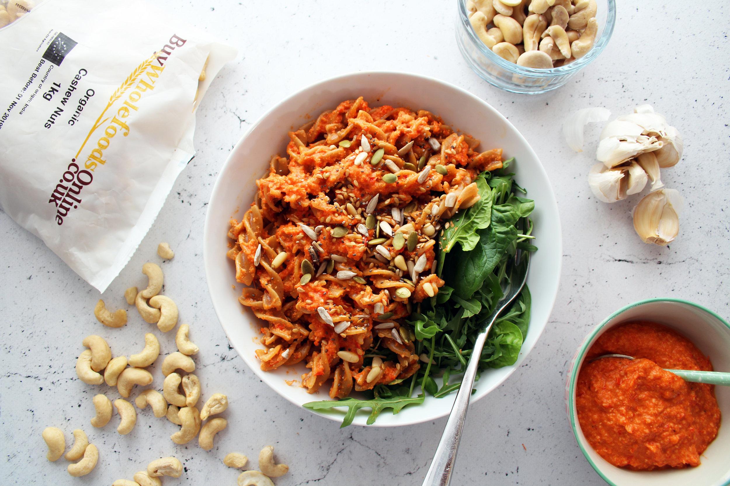 Roast pepper cashew pasta sauce   The Flourishing Pantry