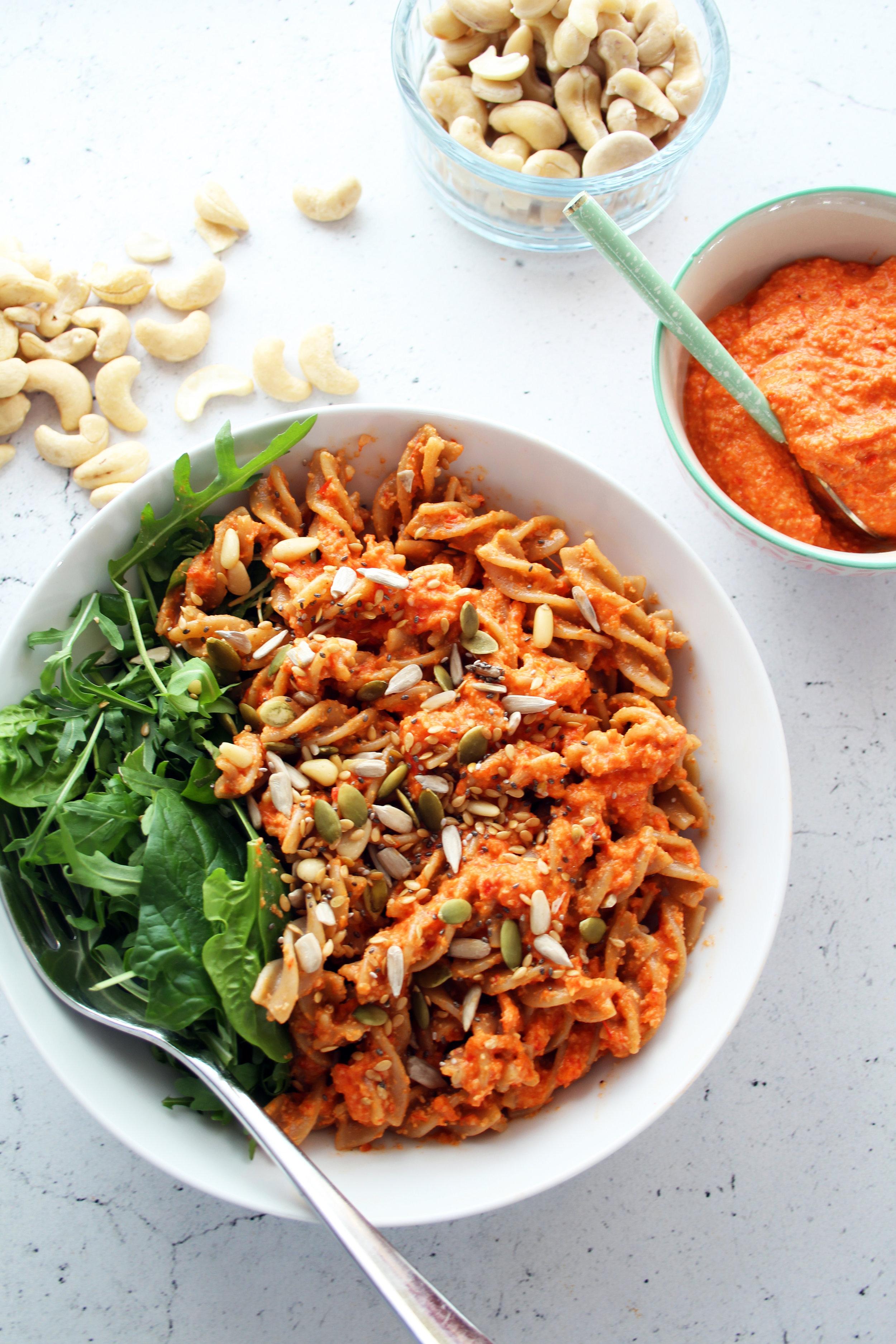 Roast pepper and cashew pasta sauce   The Flourishing Pantry
