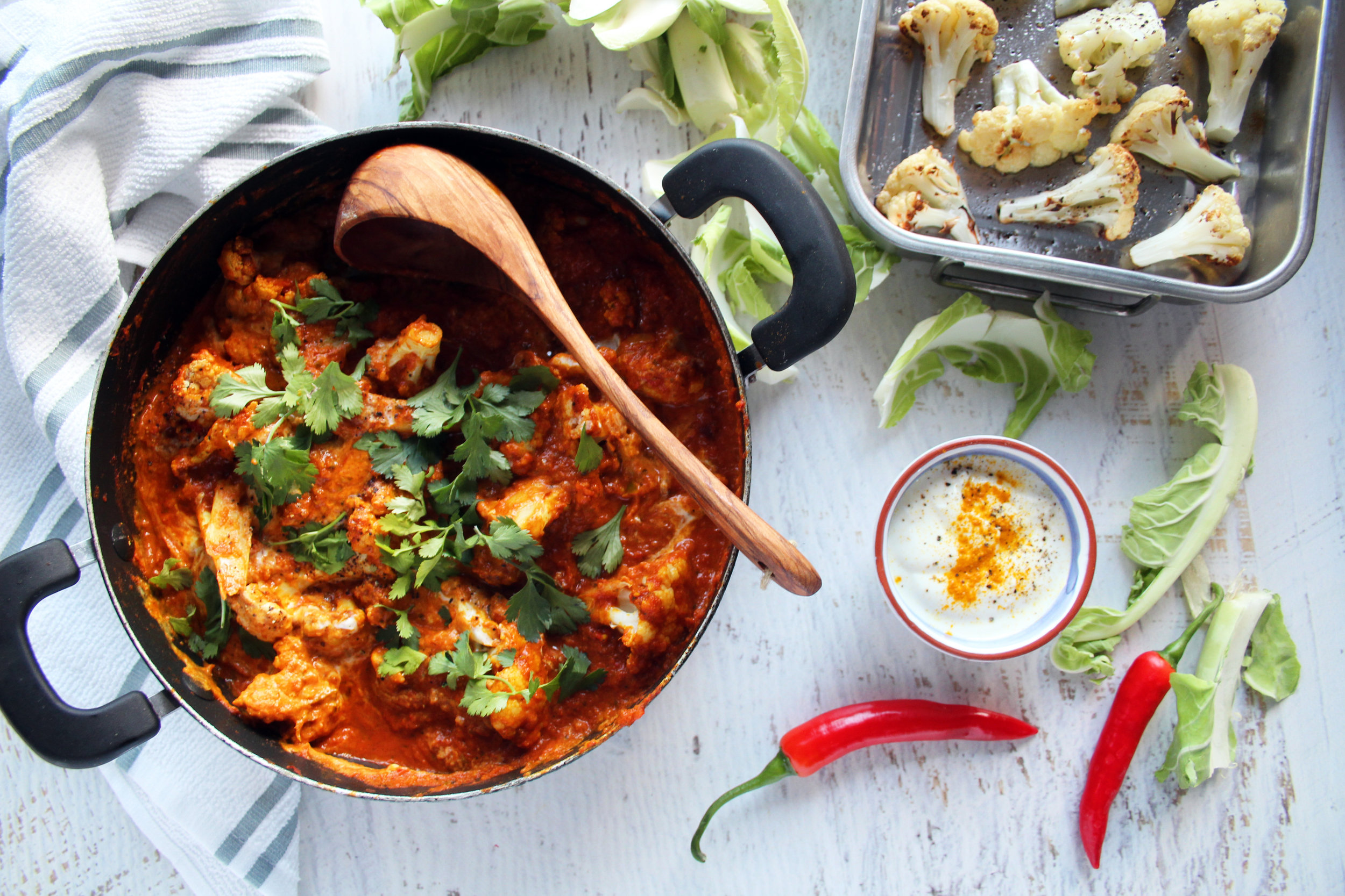 Cauliflower curry recipe | The Flourishing Pantry | healthy eating for entrepreneurs