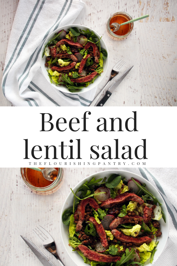 PINTEREST | Beef and lentil salad | The Flourishing Pantry.png