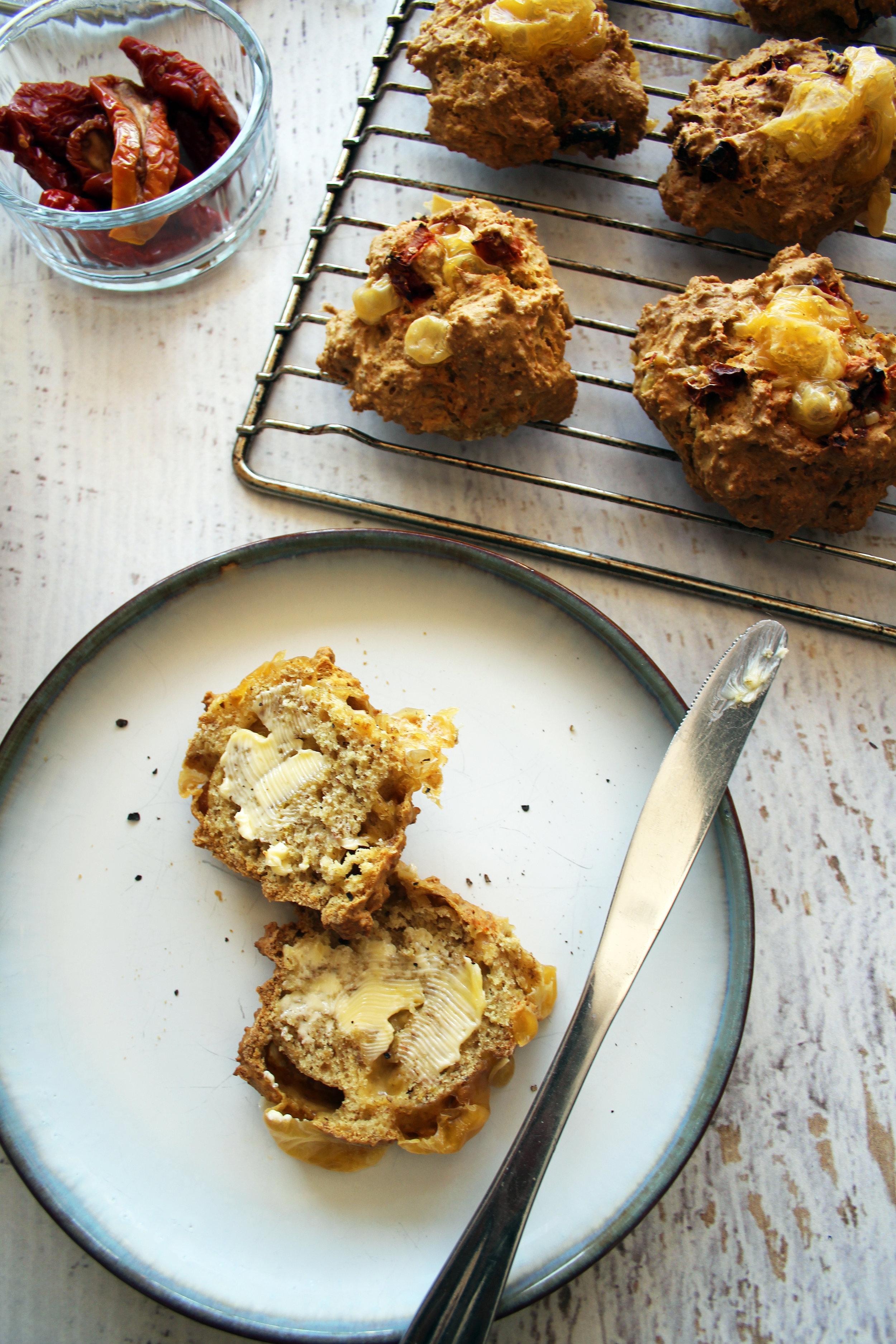 Dairy free cheese scones | The Flourishing Pantry