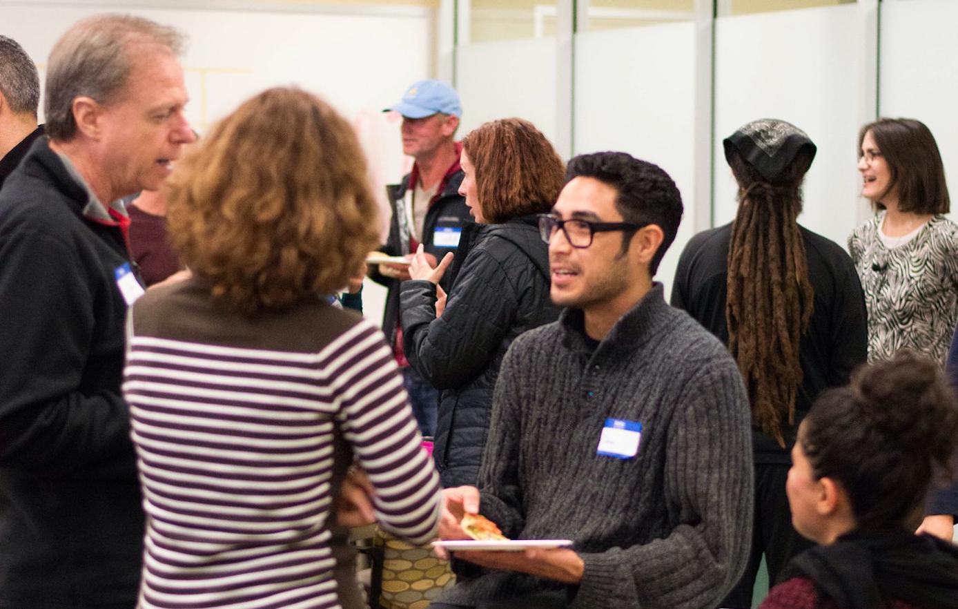 Creating connections at a workshop I gave at Agile Santa Barbara, January, 2016.