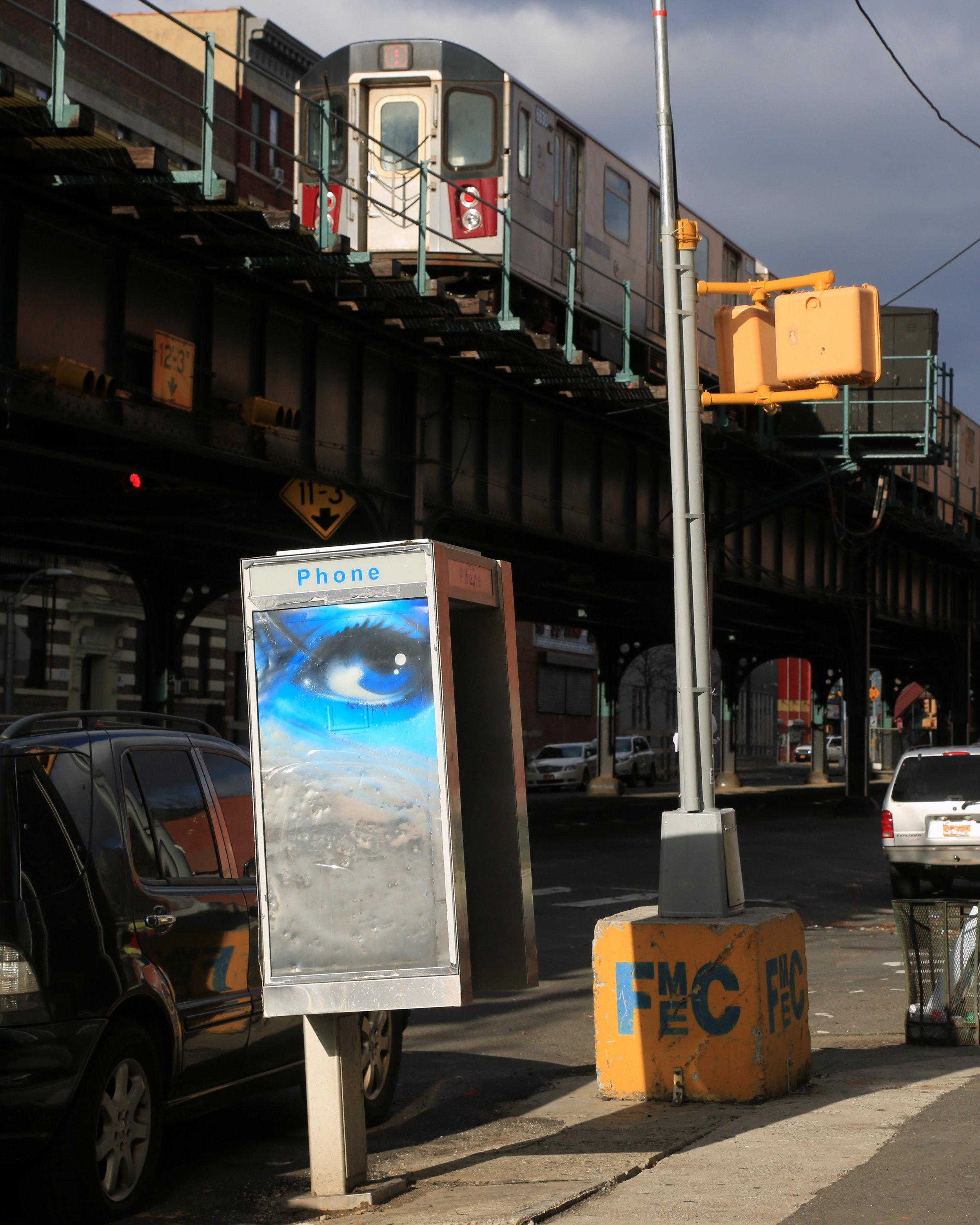 """Metal Eye by Chris """"Daze"""" Ellis. Photo by Luna Park."""