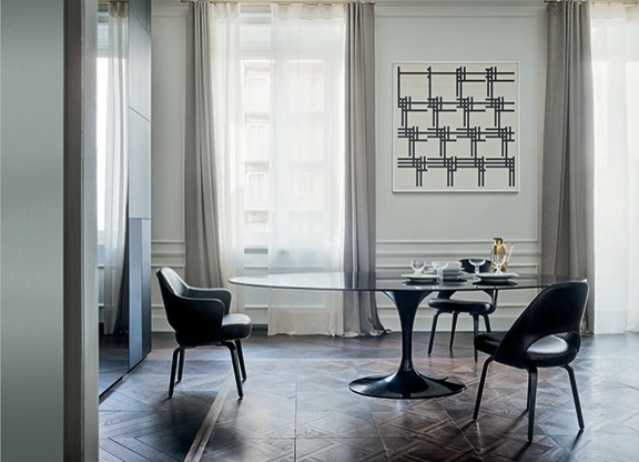 Knoll Saarinen Dining Table Black Nero Marble 54 4 Love Of Designer