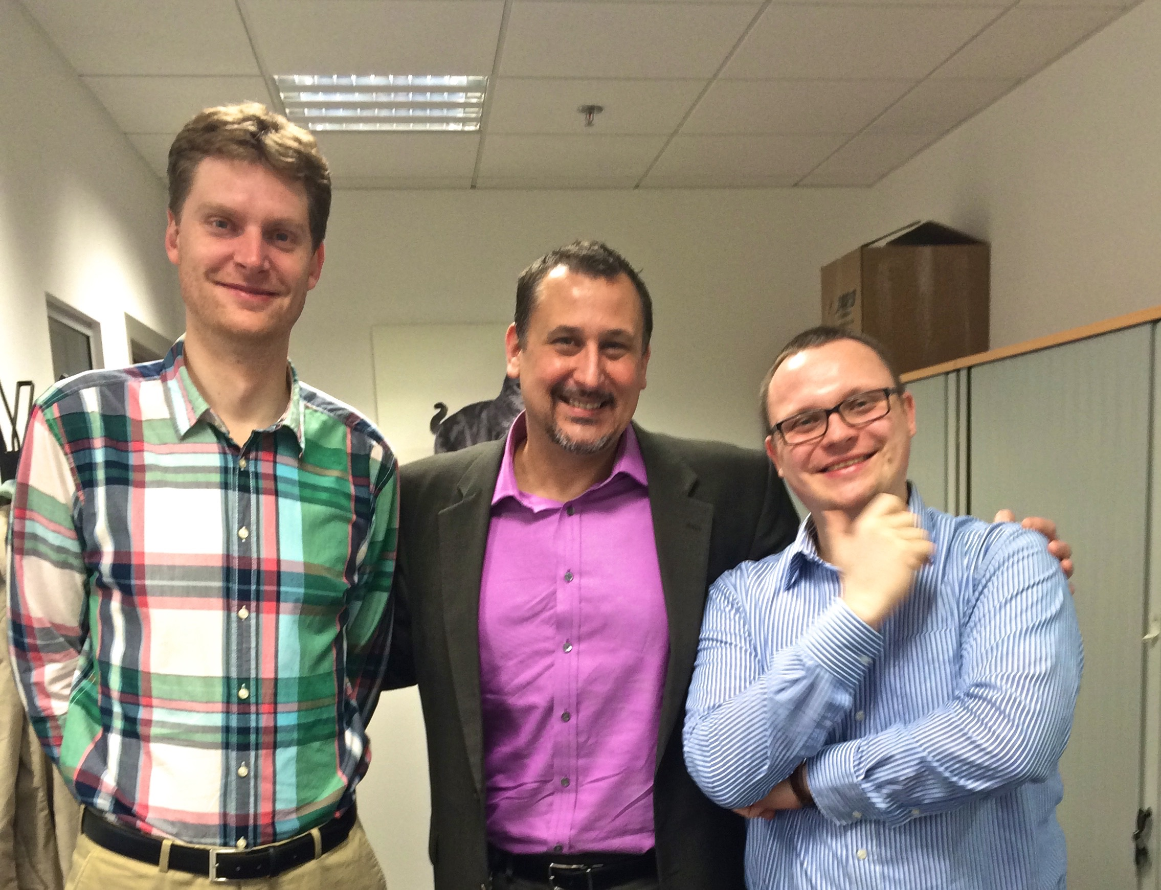 Lee (center) with Czech legal colleagues at Hill's Pet Nutrition EU Headquarters, Prague 2015