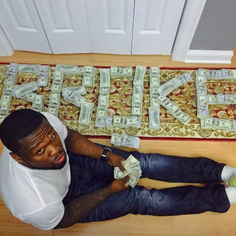 That time 50 Cent was broke, but still had enough cash on hand to play scrabble with it.
