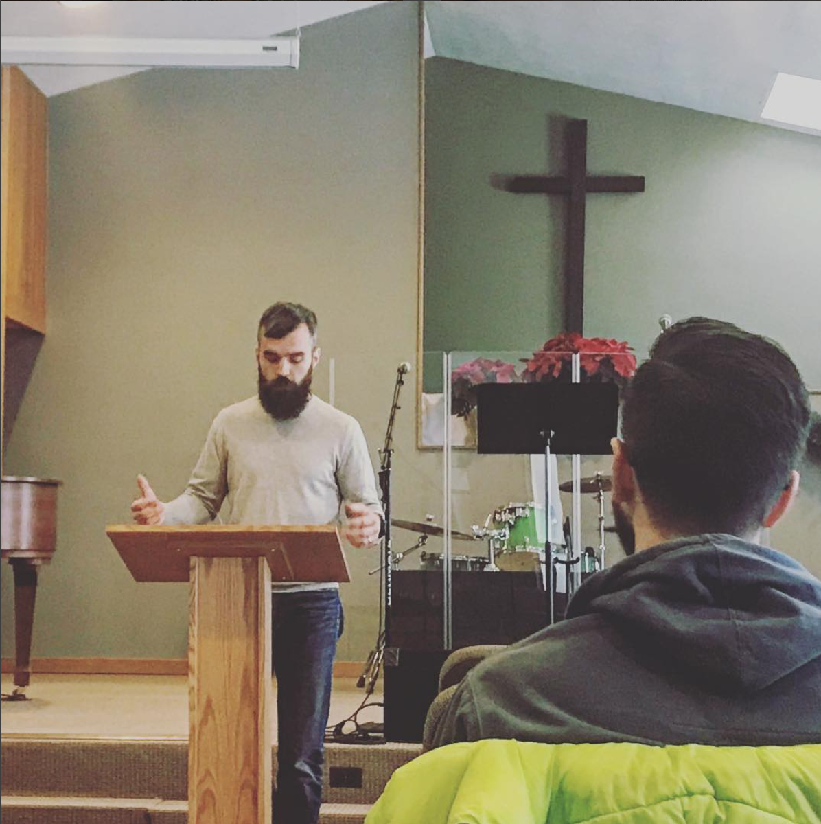 """""""Handsome Oliver"""" preaching at Leadership Lab."""