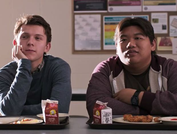 """Peter Parker and Ned """"the guy in the Chair"""" Leeds."""