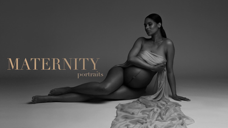 NYC maternity photography,  luxury pregnancy portrait studio .
