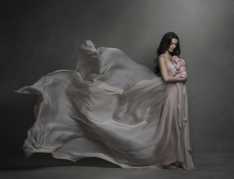 fine-art newborn photography