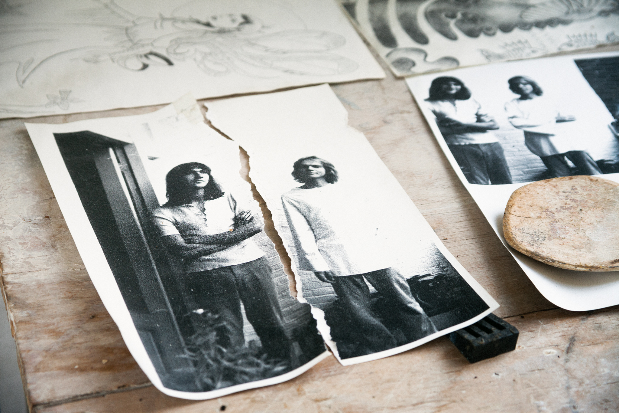 Torn apart picture of young Guido (left) and his brother.