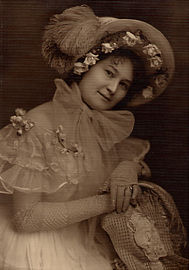 "Marian Wright Powers (c.1915) in her costume for ""Songs My Mother Taught Me"""