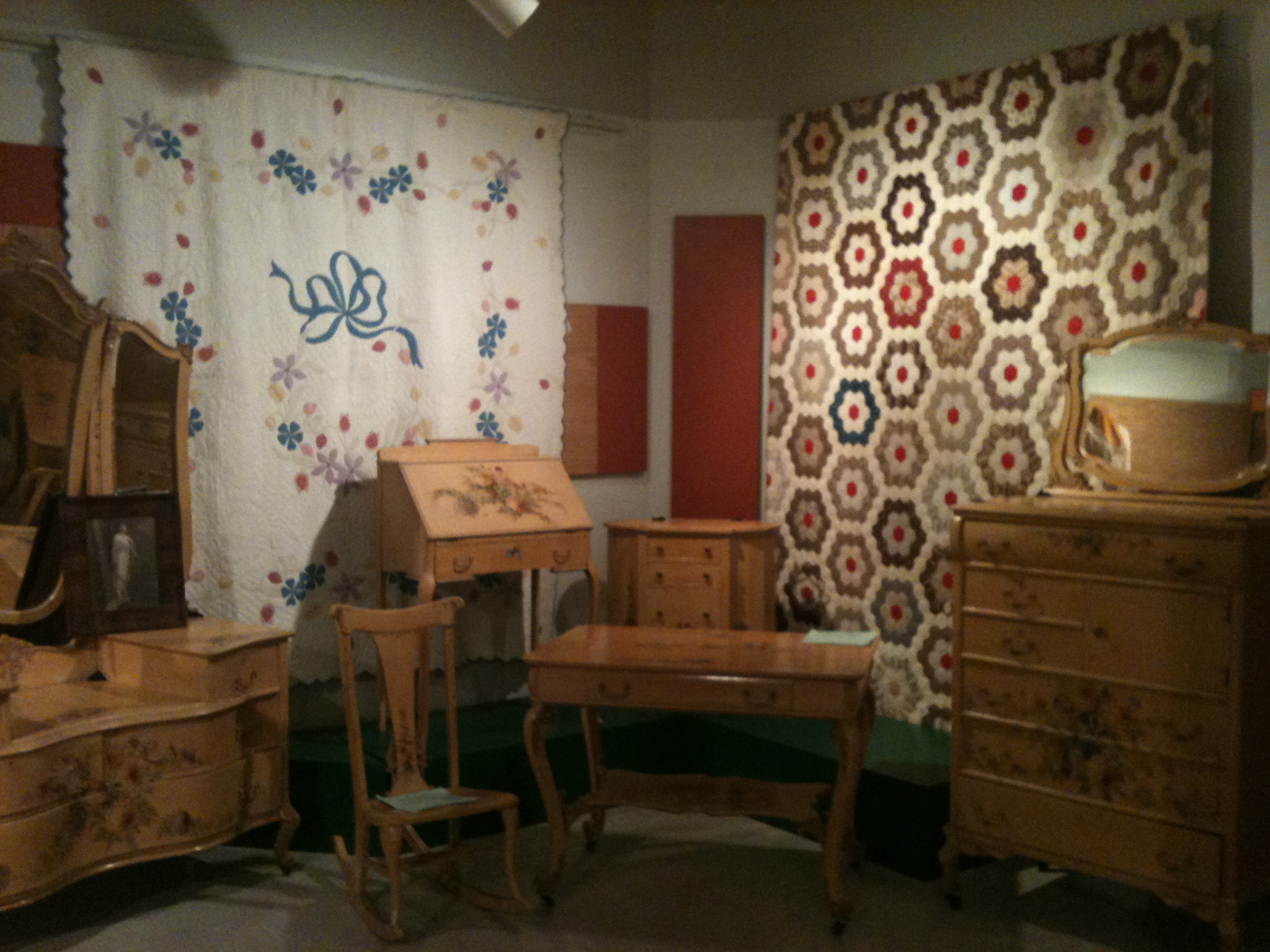 The 2009 exhibit featured Powers Quits and hand painted furniture by Ida Chubb