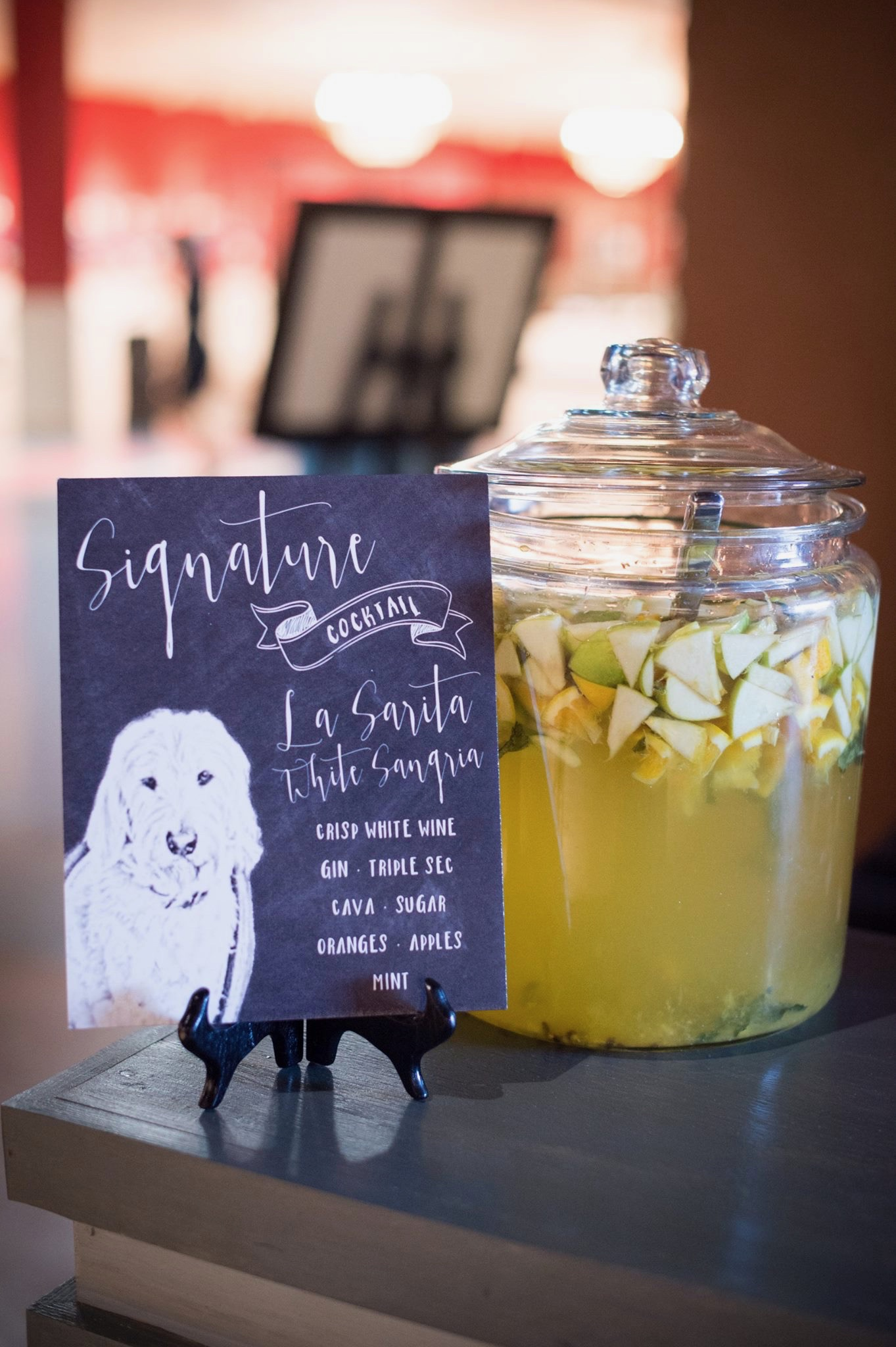 Naming a signuture cocktail after your furry friend is a fun way to include man's best friend www.avenueievents.com.jpg