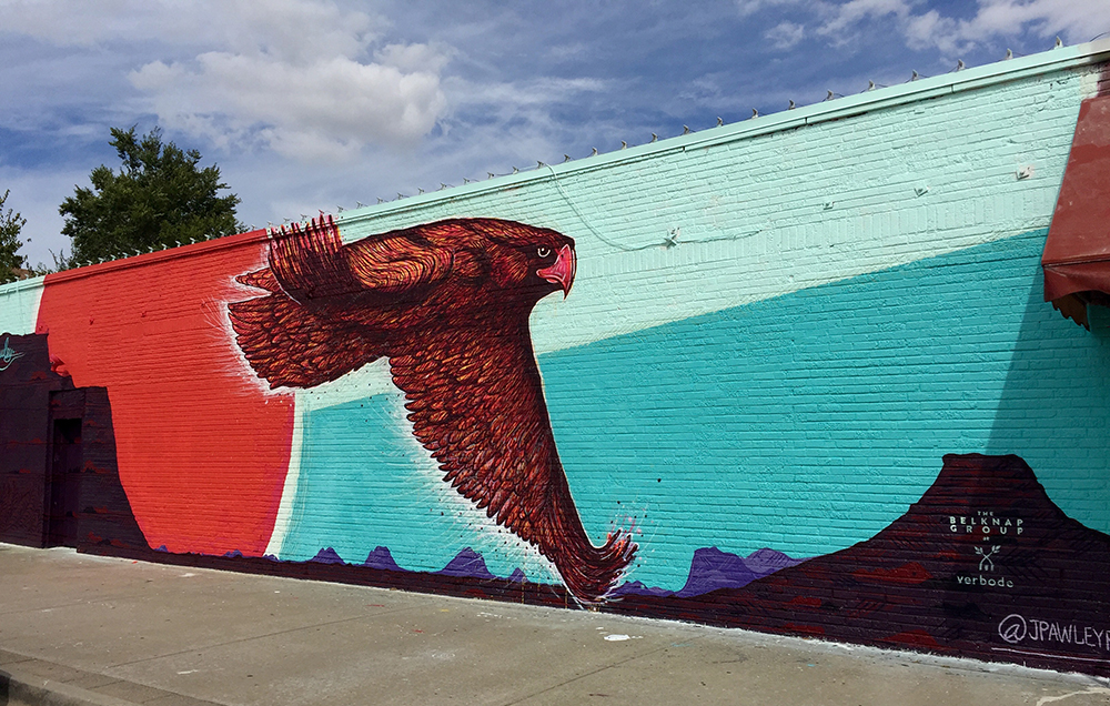 Indiana Avenue mural by Jason Pawley — September 2016