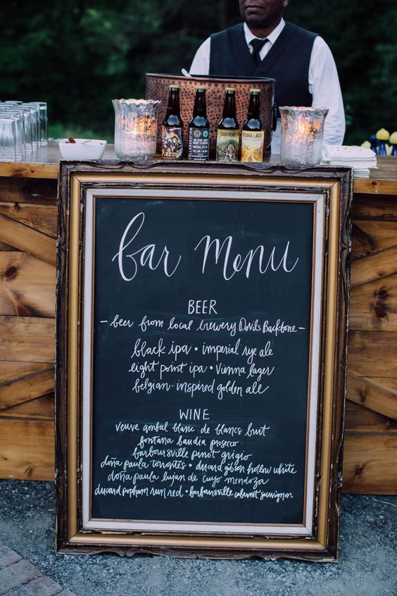 All the signage for this beautiful wedding is on Borrowed and Blue