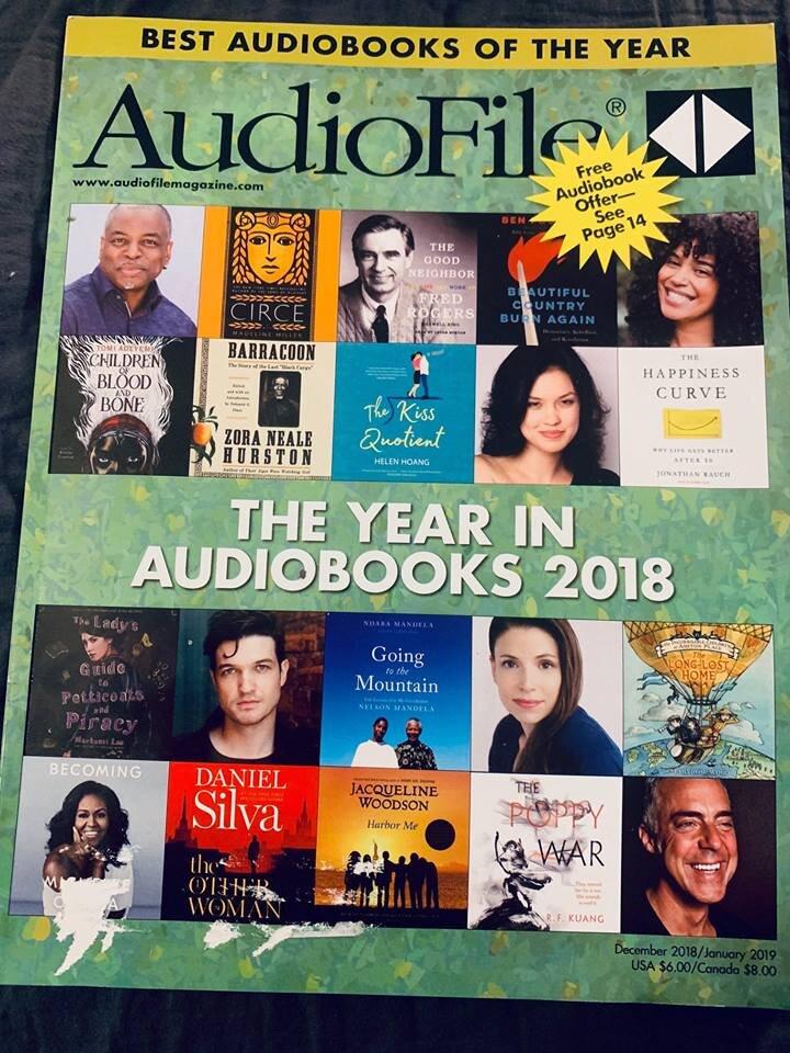 "December 2018 ""Audiofile Magazine"" cover."
