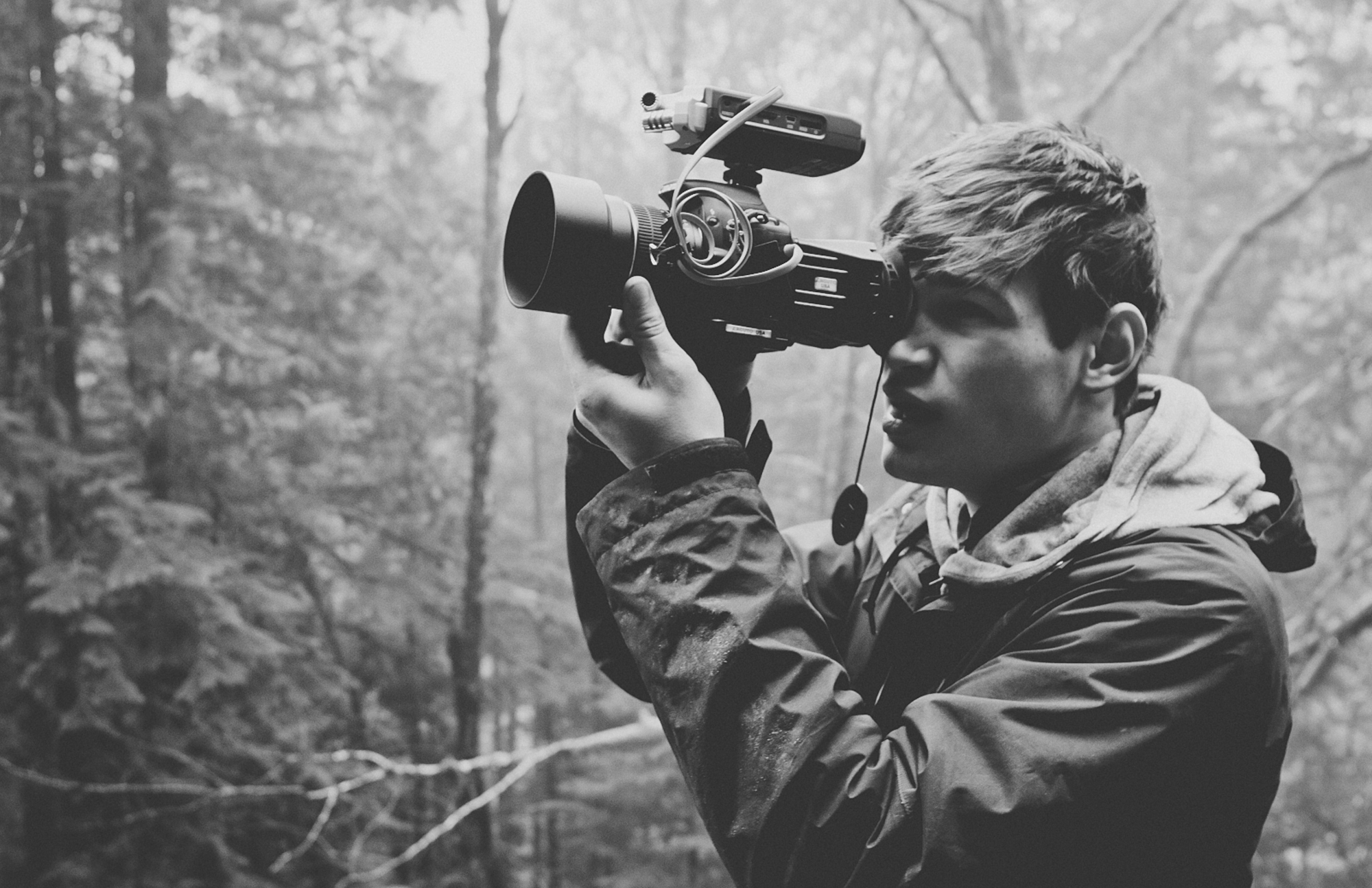 Levi Allen shooting with his Canon T2i