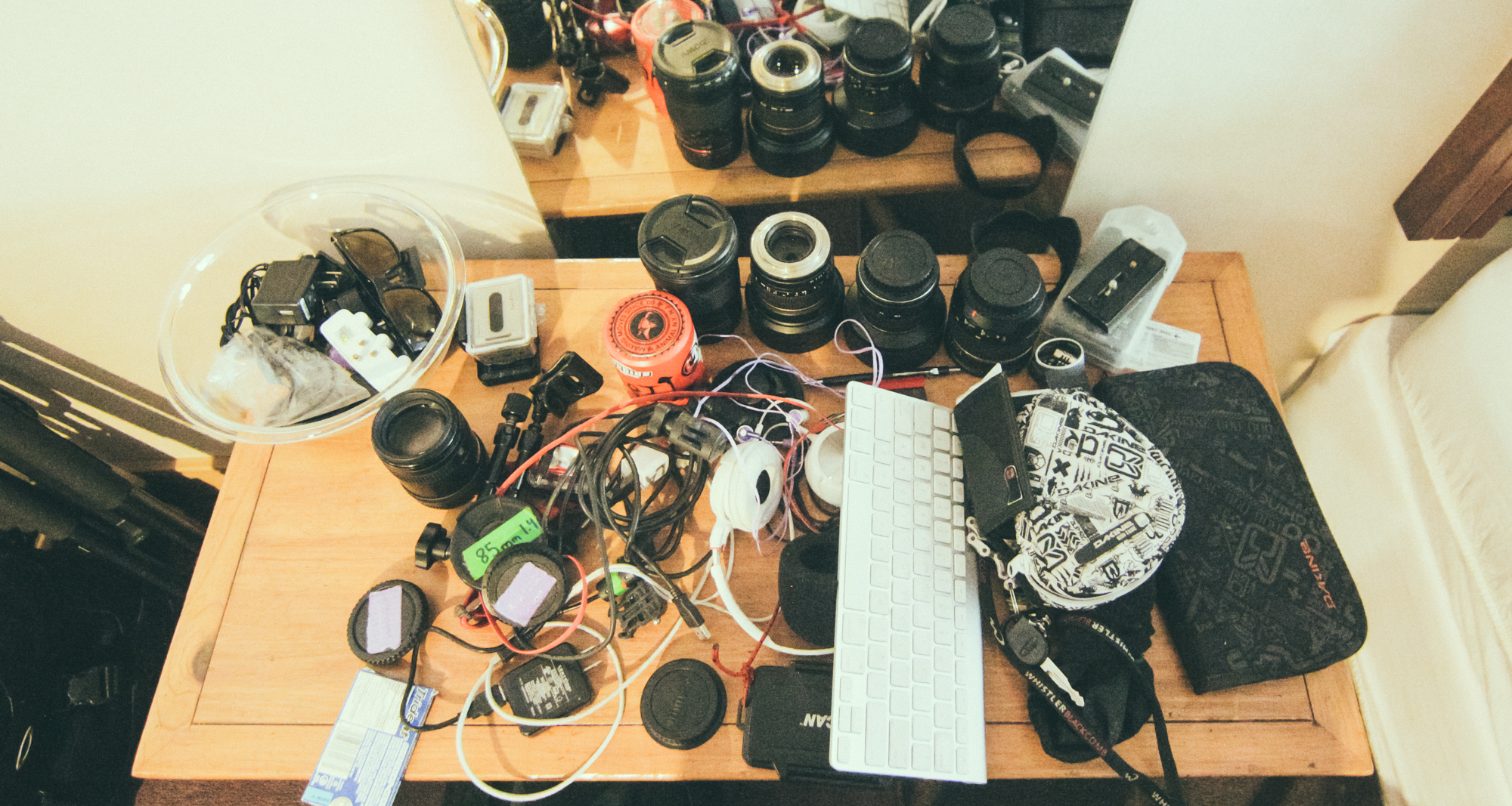 A random assortment of the gear I used on the shoot