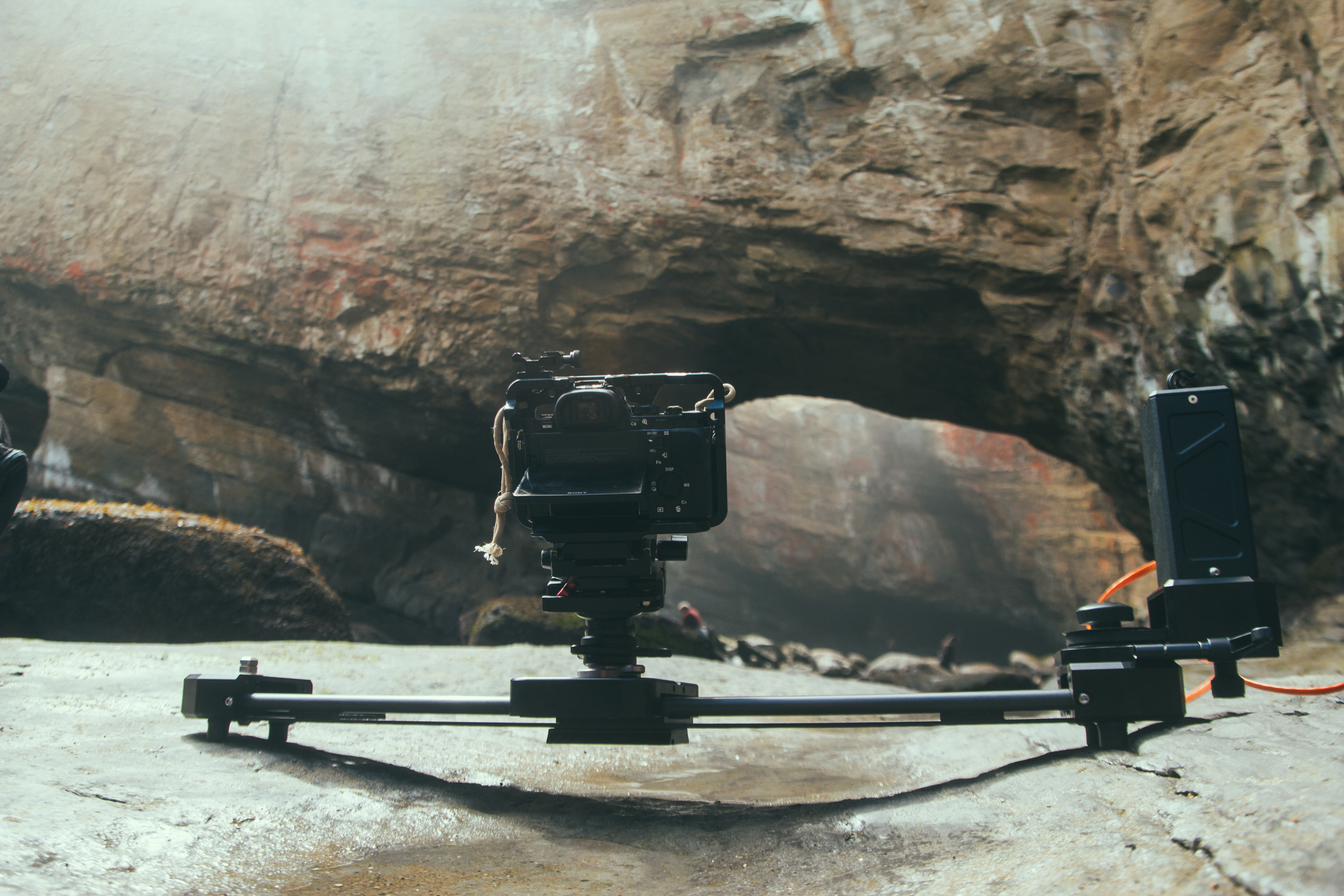My favourite traveling timelapse set up. A 2 Foot carbon stealth paired with the slider motor.
