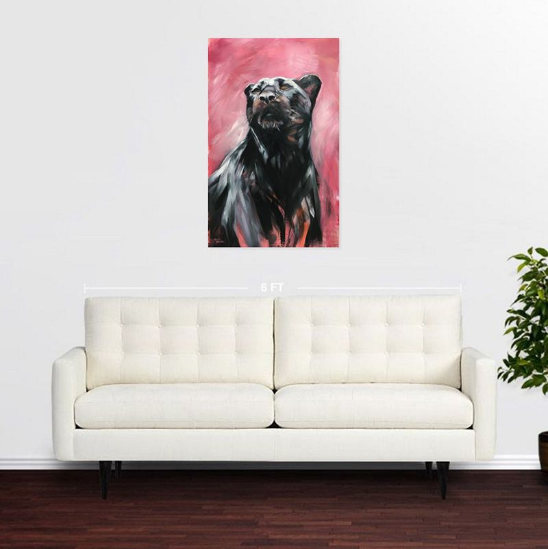 Black Panther in a room