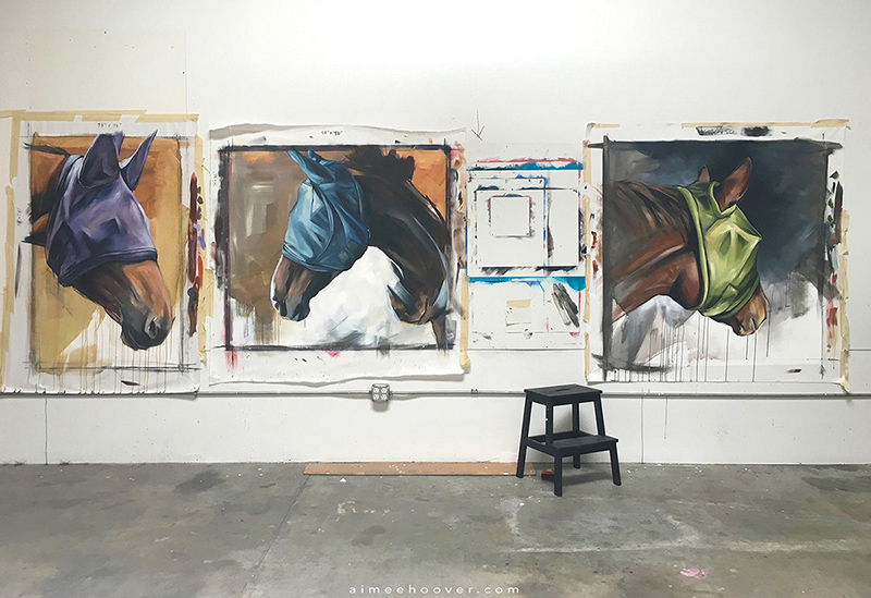 In the studio // the first 3 pieces in the new Fly Mask series