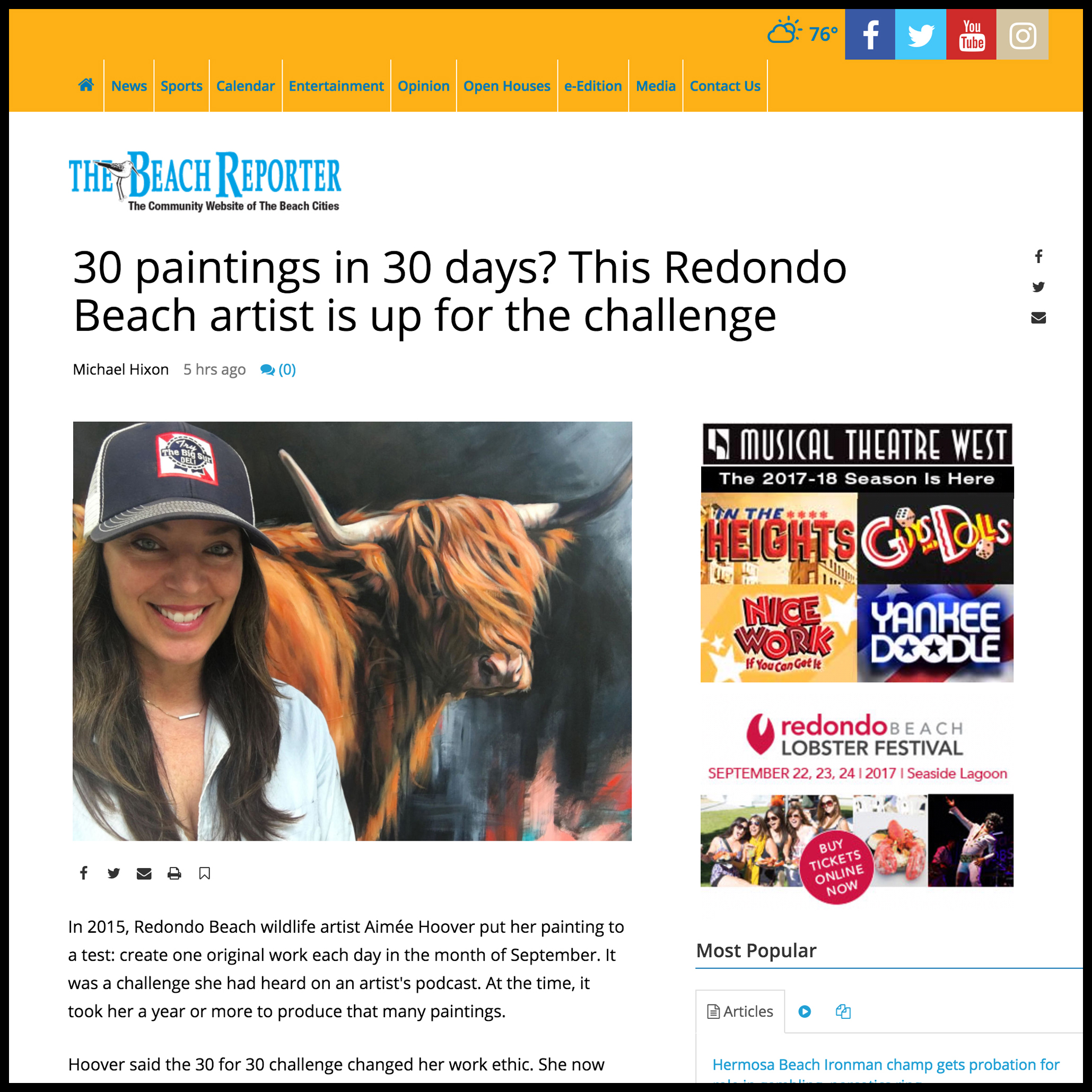 The Beach Reporter - September 201730 Painting in 30 Days?tbrnews.com