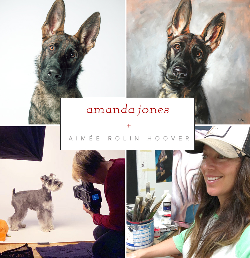 Spring 2019 /A special, artistic collaboration with renown dog photographer, Amanda Jones - For a limited time, Aimée and Amanda are teaming up to offer dual artistic visions of your beloved dog(s).Offer ends March 31, 2019.Read more
