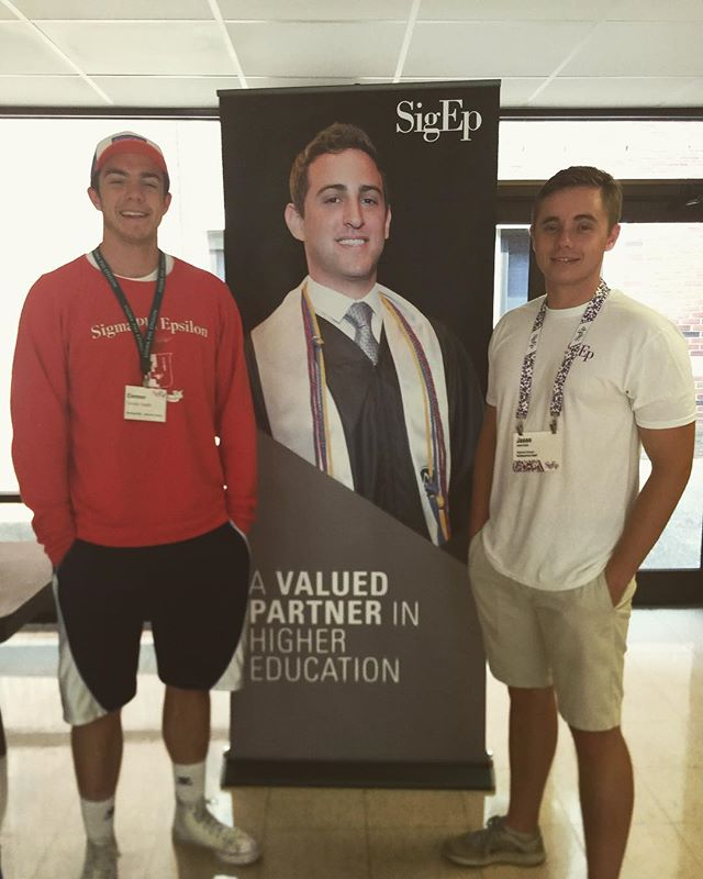 Proud of our member @wcs_cdevlin81 at the Ruck Leadership Institute representing Wichita State Sigep☠️