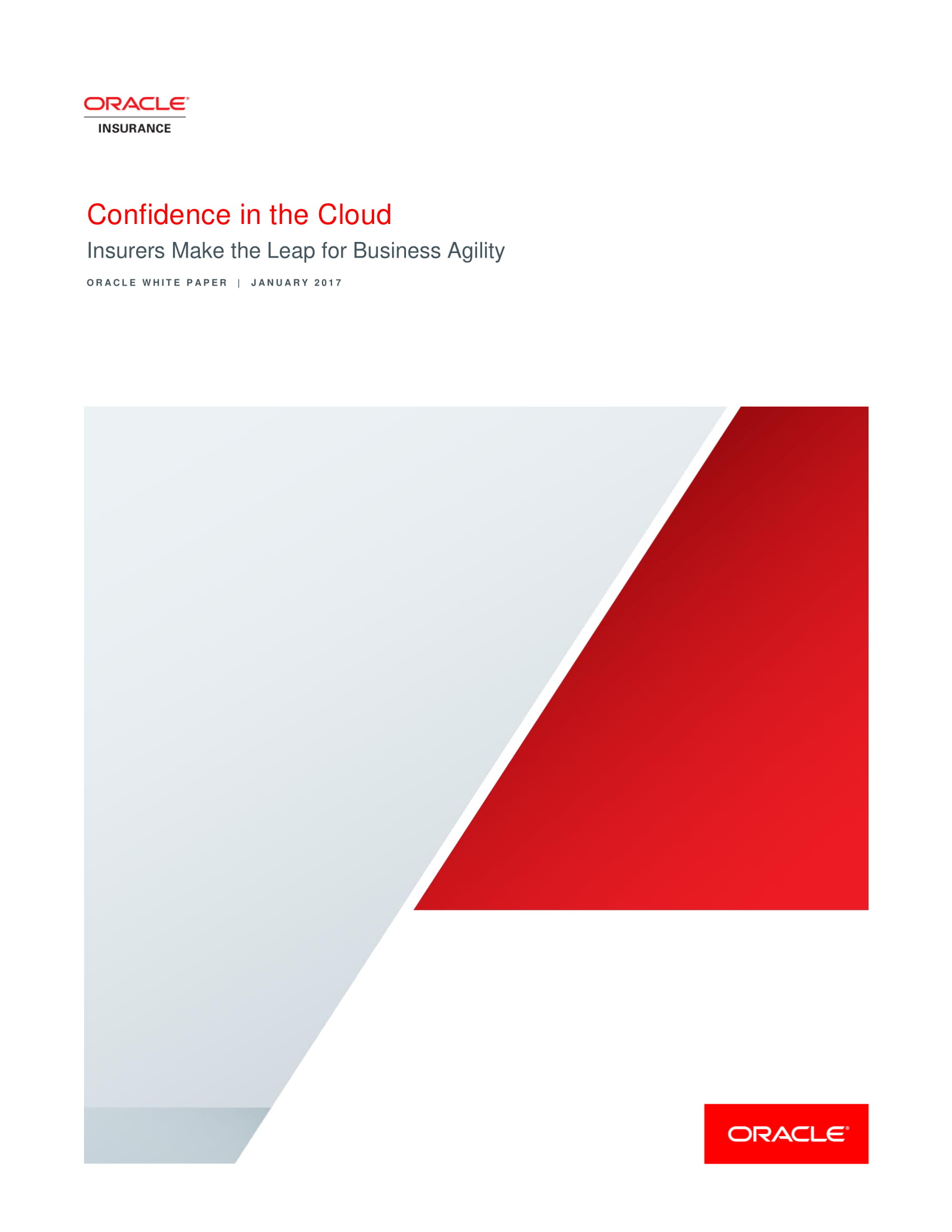 Confidence in the Cloud