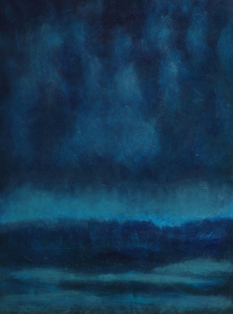 Midnight Wave 35 x 40 Oil on WOOD<br>Sold