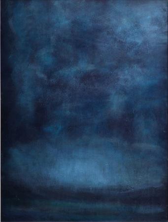 Blue Dusk 30 x 24 Oil On WOOD<br>Sold