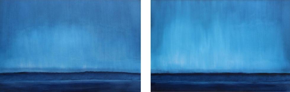 Blue Velvet I II 60 x 40 Oil On Canvas