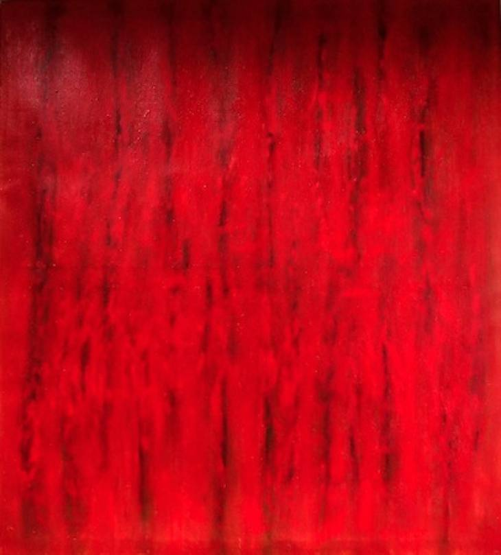 Cardinal Carnage 60 x 55 Oil on Linen<br>SOLD