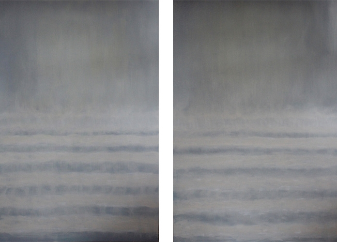Oyster Waves I II 48 x 72 Oil On Canvas