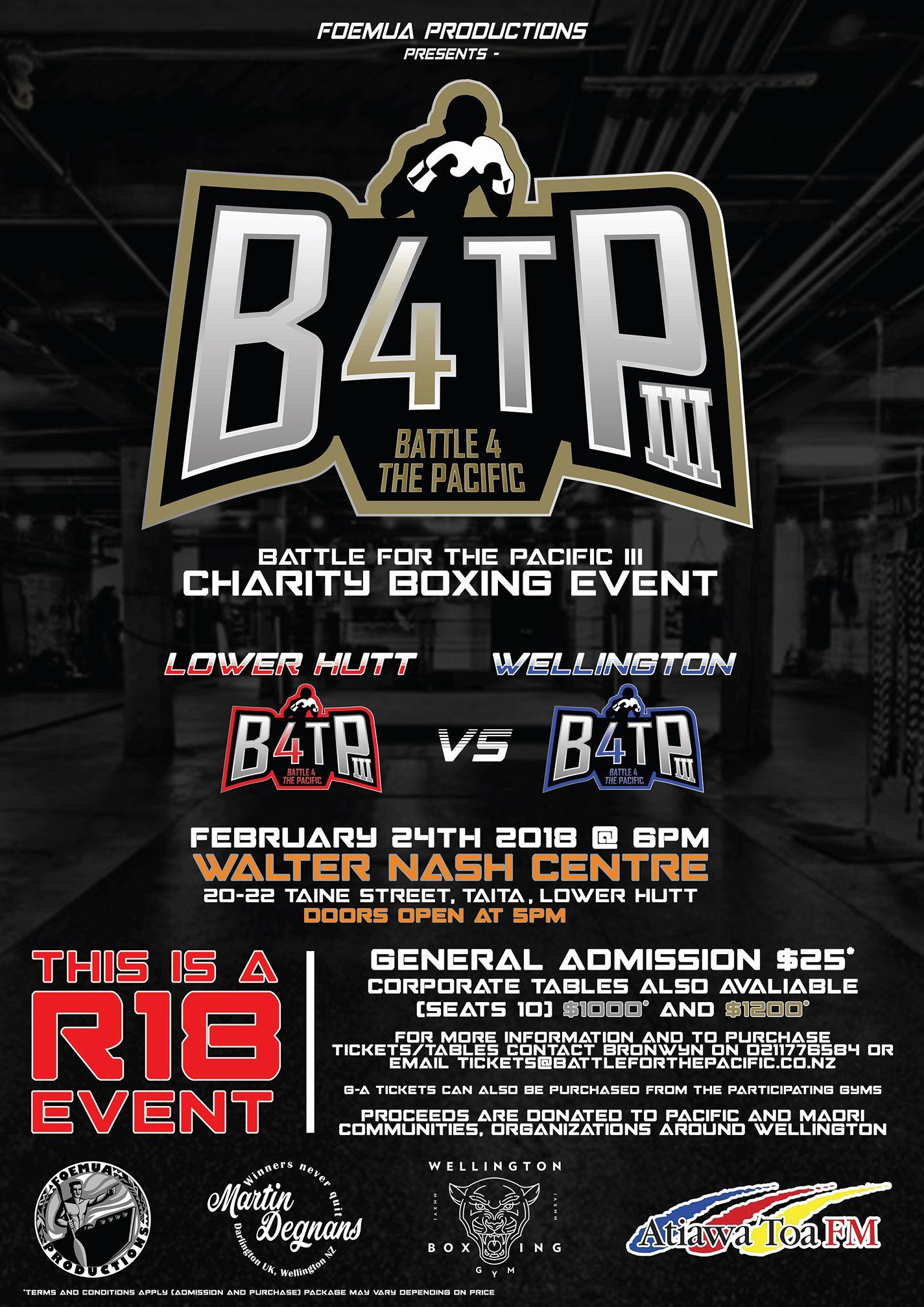 B4TP Poster - Wellington Boxing Gym