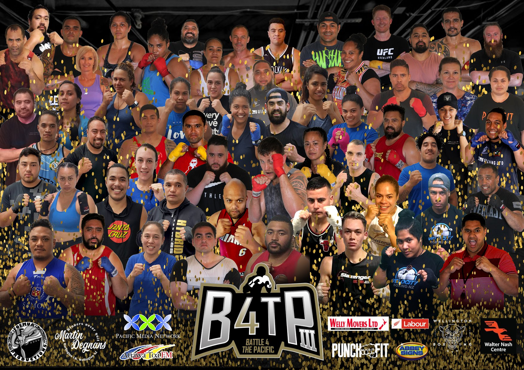 Fighters, trainers and promotion team that made up B4TPIII 2018