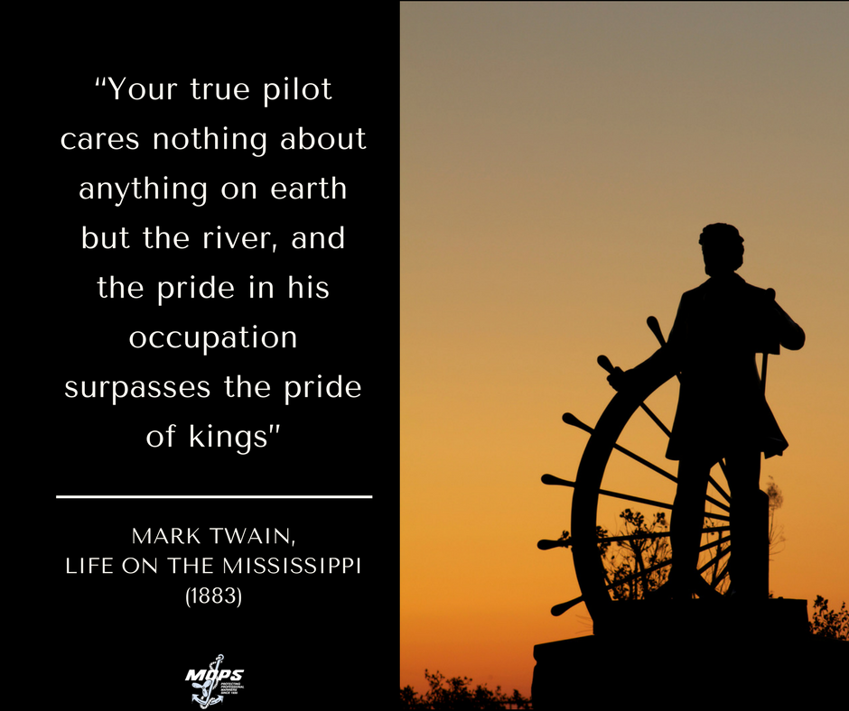 Mark Twain discusses life on the Mississippi
