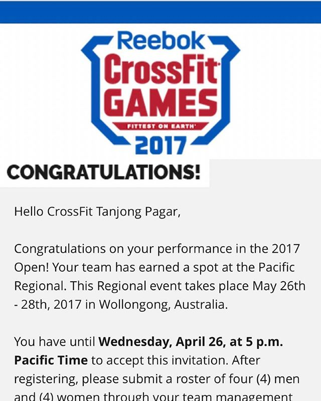 Massive shout out to our extended family @crossfittanjongpagar  Congrats! NOW GO GET THEM!