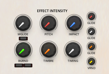 Effects Intensity Knobs