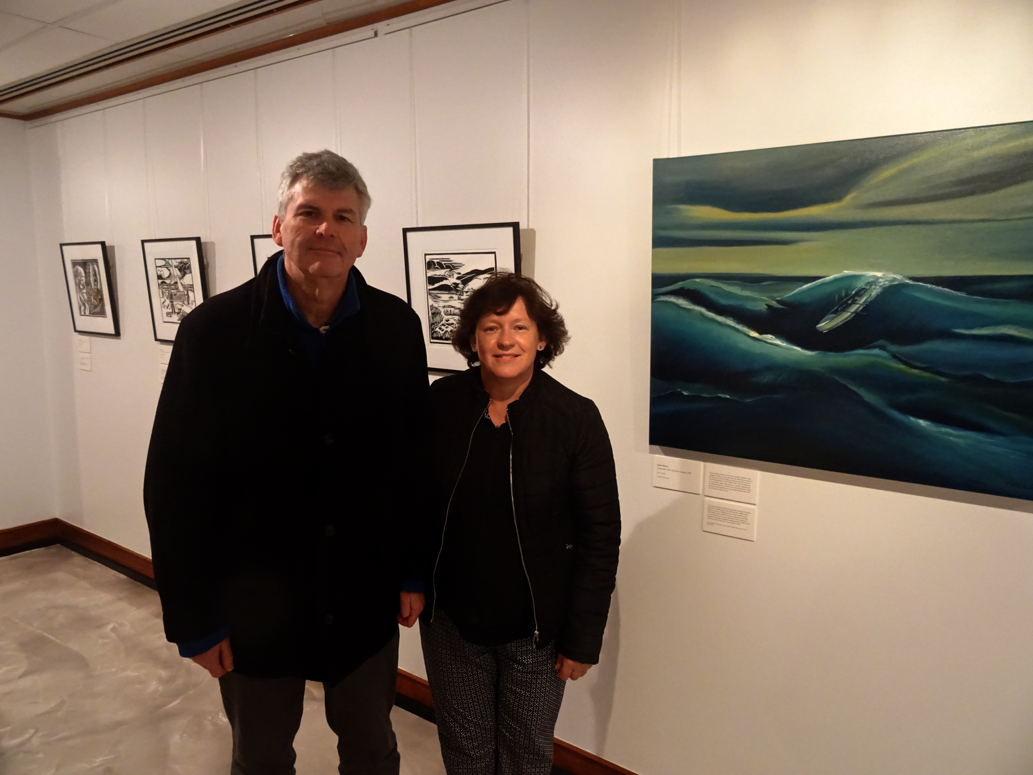 Stories in Ink exhibition - Judith and Andre
